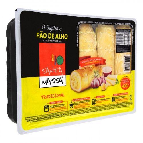 PAO DE ALHO TRAD SANTA MASSA 400GR